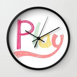 Play Nursery Art Wall Clock