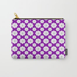 Lotus Flower Om Pattern on Purple Background Carry-All Pouch