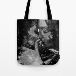 Kiss me in black and white Tote Bag
