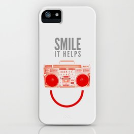 Smile. It Helps. iPhone Case
