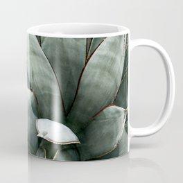 Botanical Succulents // Dusty Blue Green Desert Cactus High Quality Photograph Coffee Mug