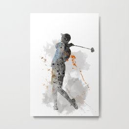Golf Player 11 Metal Print