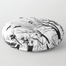 rooks and trees 1 Floor Pillow