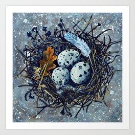 Blue Nest Art Print