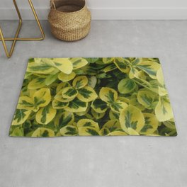 Nature and Greenery 27 leaves Rug