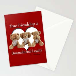 True Friendship is Unconditional Loyalty - Red Stationery Cards