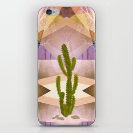 CACTUS INTO GEOMETRIC LANDSCAPE iPhone Skin