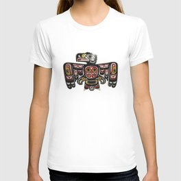 Northwest Pasific American Native Totem Cut In Wood No. 6 T-shirt