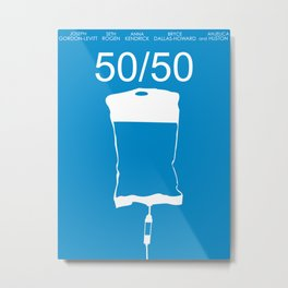 Minimalist 50/50 Metal Print