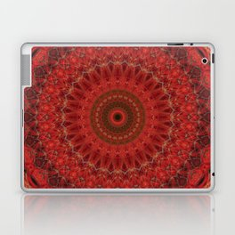 Mandala in pastel red and orange tones Laptop & iPad Skin