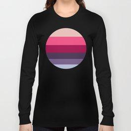 Wine Magenta Grape Purple Color-block Pattern Long Sleeve T-shirt
