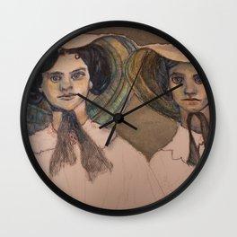 Sunbonnet Sisters Wall Clock