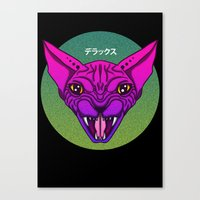 sphynx Canvas Prints featuring SPHYNX by SHIN DE☆LUXE
