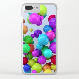 Gumballs Clear iPhone Case