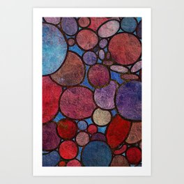 Colorful Abstract Stones 2 Art Print