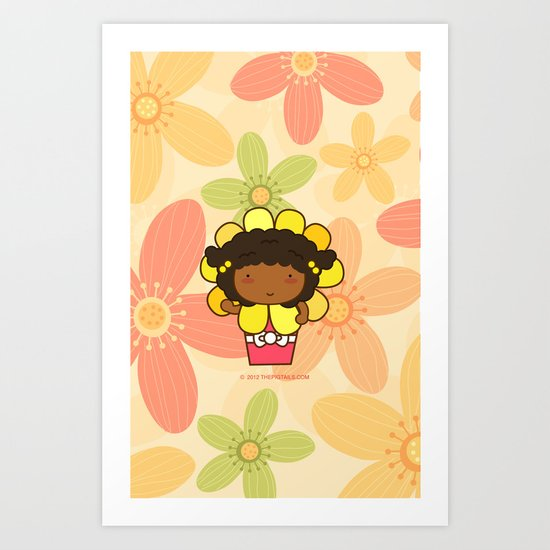 Flower in a Pot Art Print