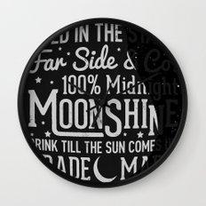 Midnight Moonshine Wall Clock