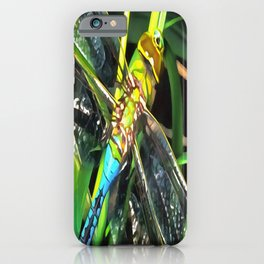 Blue Dragonfly Wings iPhone Case