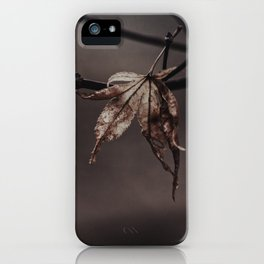 hanging on iPhone Case