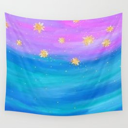 Falling Flowers Wall Tapestry