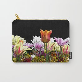 Tulips (black background) Carry-All Pouch