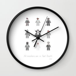 All Monsters Wall Clock