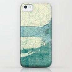 Massachusetts State Map Blue Vintage iPhone 5c Slim Case