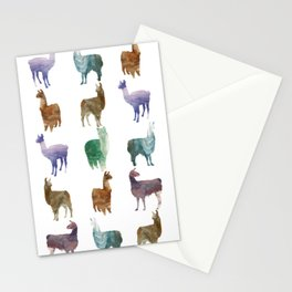 Llamas Pattern Stationery Cards