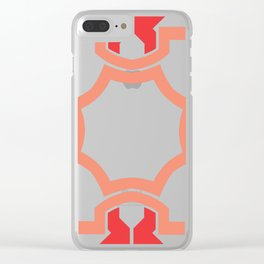 Red four sides Clear iPhone Case