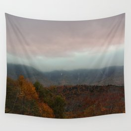 Fog Rolling Over The Hills Wall Tapestry