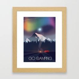 Go Camping Framed Art Print