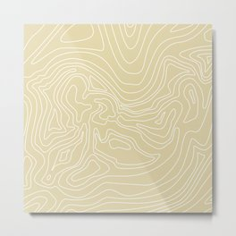 Ocean depth map - sand Metal Print