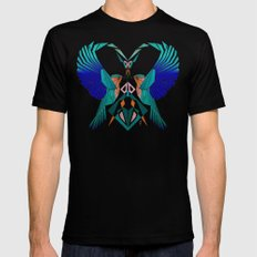 couple of blue birds Mens Fitted Tee Black 2X-LARGE