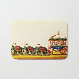Classical Masterpiece 1820 'Maharaja Elephant-drawn Carriage, Bombay, Indian - Artist Unknown Bath Mat