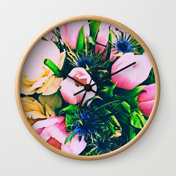 Tulip madness Wall Clock