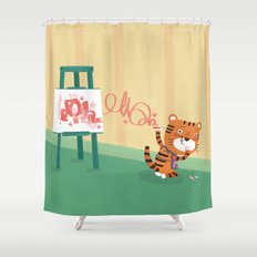 Oops!! Shower Curtain