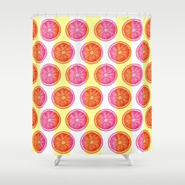 Grapefruit Slice Pattern 1 - Tropical Pattern - Tropical Print - Lemon - Orange - Fruit - Tangerine Shower Curtain