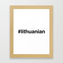 LITHUANIA Framed Art Print