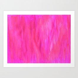Neon Watercolor Art Print