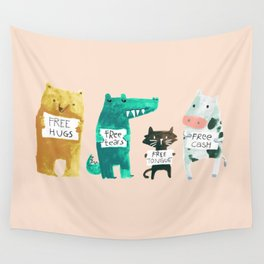 Animal idioms - its a free world Wall Tapestry