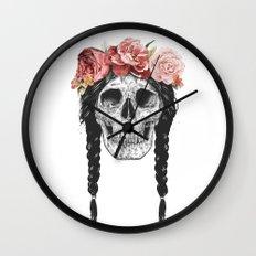 Festival skull Wall Clock