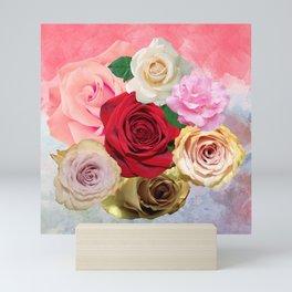 Rose Garden - Floral Spring Summer Roses Design Mini Art Print