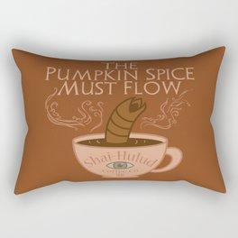 The Pumpkin Spice Must Flow Rectangular Pillow