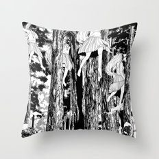 'The trees stir with noises of women who have lost themselves' Throw Pillow