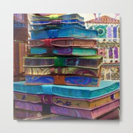 Hand MAde Books In Venice Metal Print