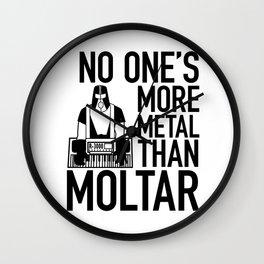 Moltar the METAL Wall Clock