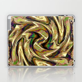 Gold Brown  Rotation Motaion Background Abstact Laptop & iPad Skin
