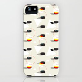 Pucks & Geometries #society6 #hockey #sport iPhone Case