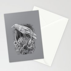 White Raven Stationery Cards
