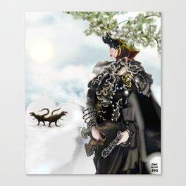 Future Warrior in Pre-History [Digital Figure Illustration] Canvas Print